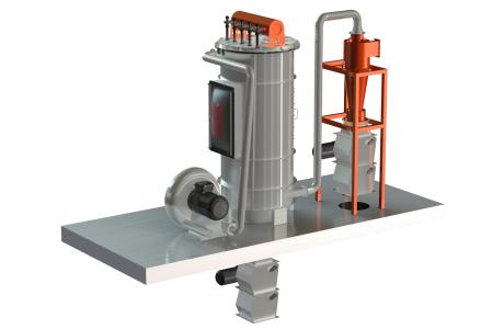 Високо вакуумний фільтр для промислових центральних пилососів з регенерацією за допомогою стисненого повітря