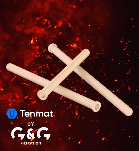 Керамічні фільтруючі елементи для фільтрації гарячих димових газів
